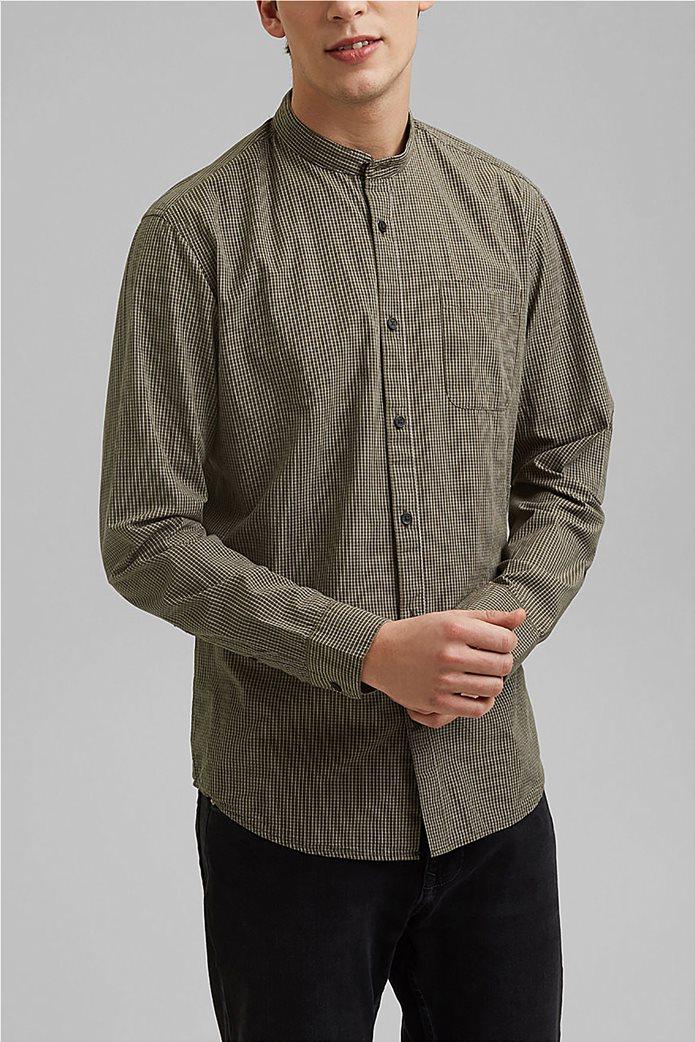 Esprit ανδρικό πουκάμισο με καρό σχέδιο 0