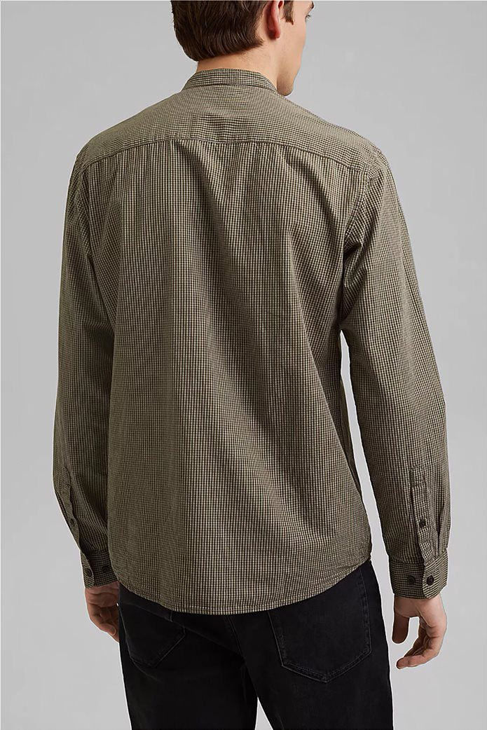 Esprit ανδρικό πουκάμισο με καρό σχέδιο 2