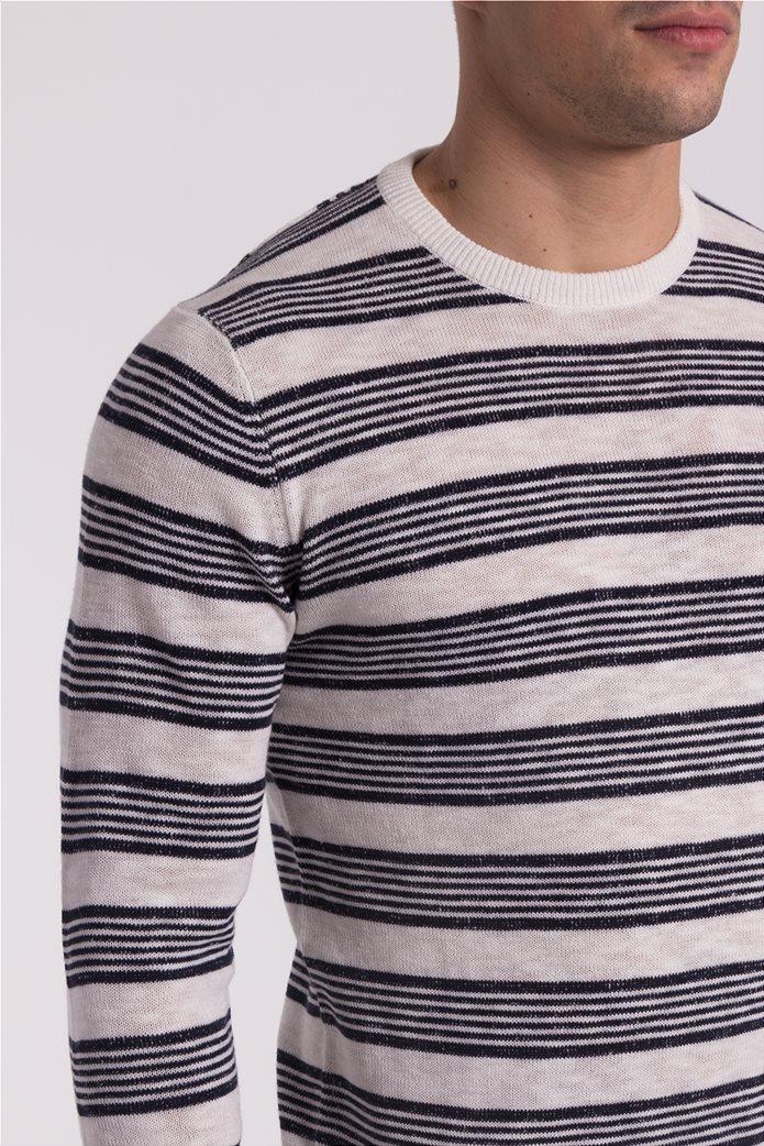 678170c6c5b5 Ανδρική ριγέ πλεκτή μπλούζα Esprit 4