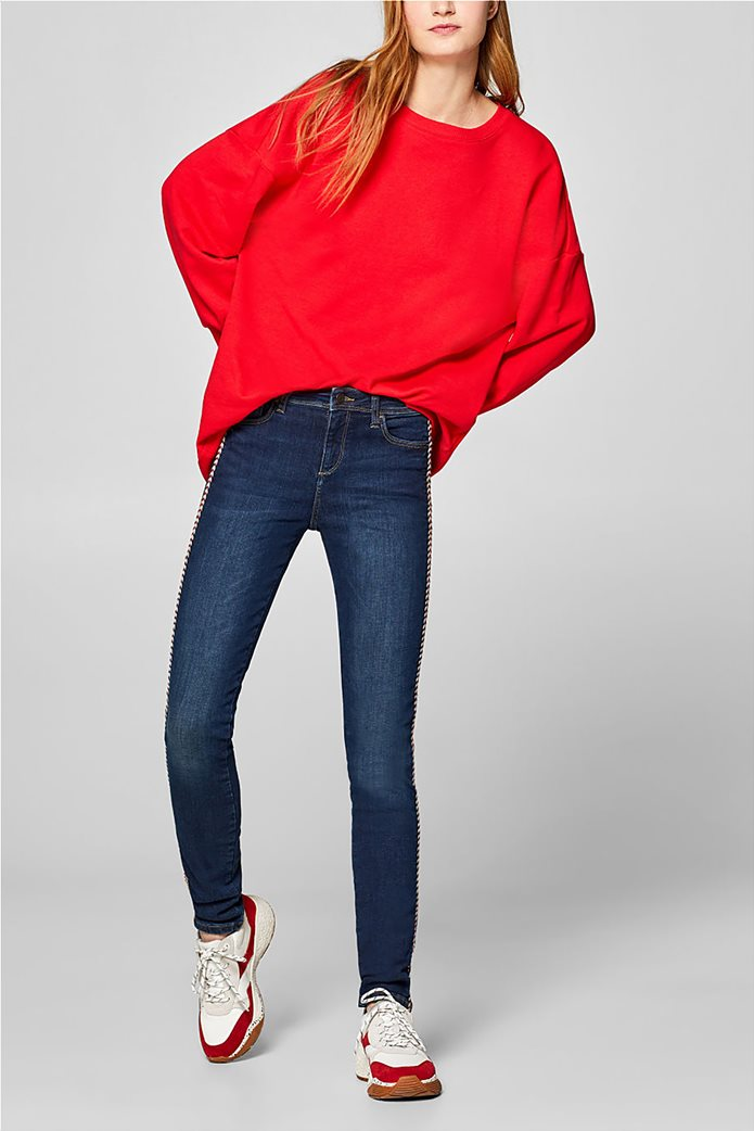 Esprit γυναικείο τζην παντελόνι με κορδόνι στο πλάι  (32L) 0