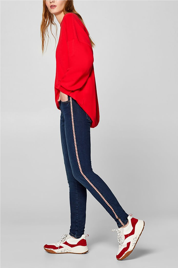 Esprit γυναικείο τζην παντελόνι με κορδόνι στο πλάι  (32L) 1