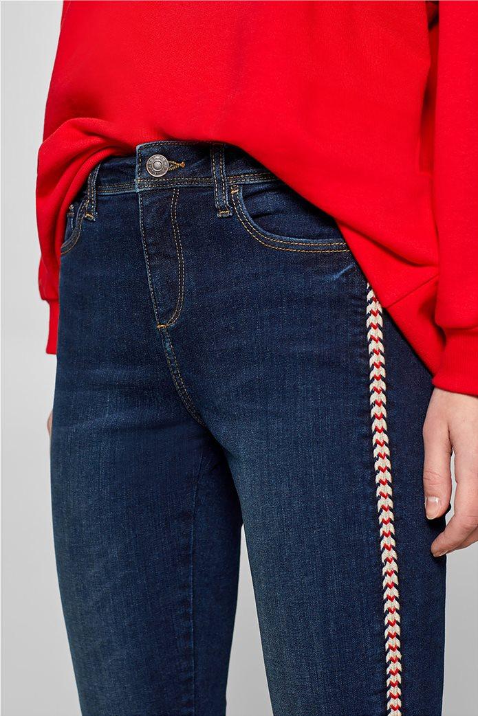 Esprit γυναικείο τζην παντελόνι με κορδόνι στο πλάι  (32L) 4