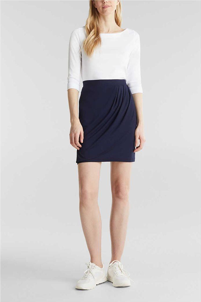 Esprit γυναικεία mini φούστα με διακοσμητικές πιέτες 0