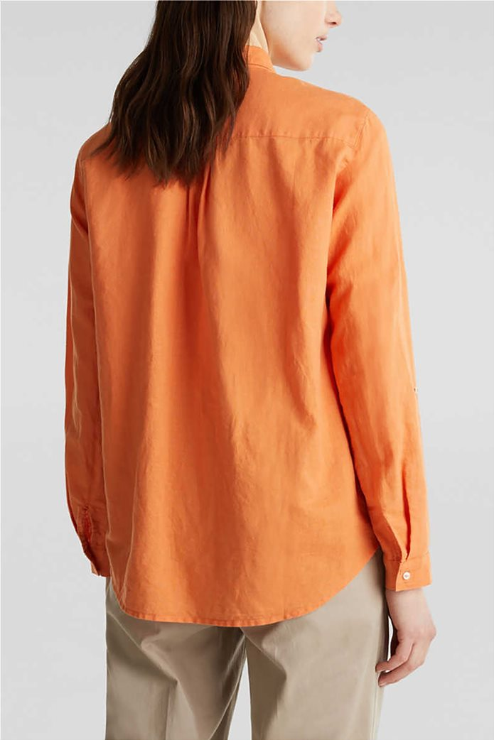 Esprit γυναικείο πουκάμισο λινό μονόχρωμο 2