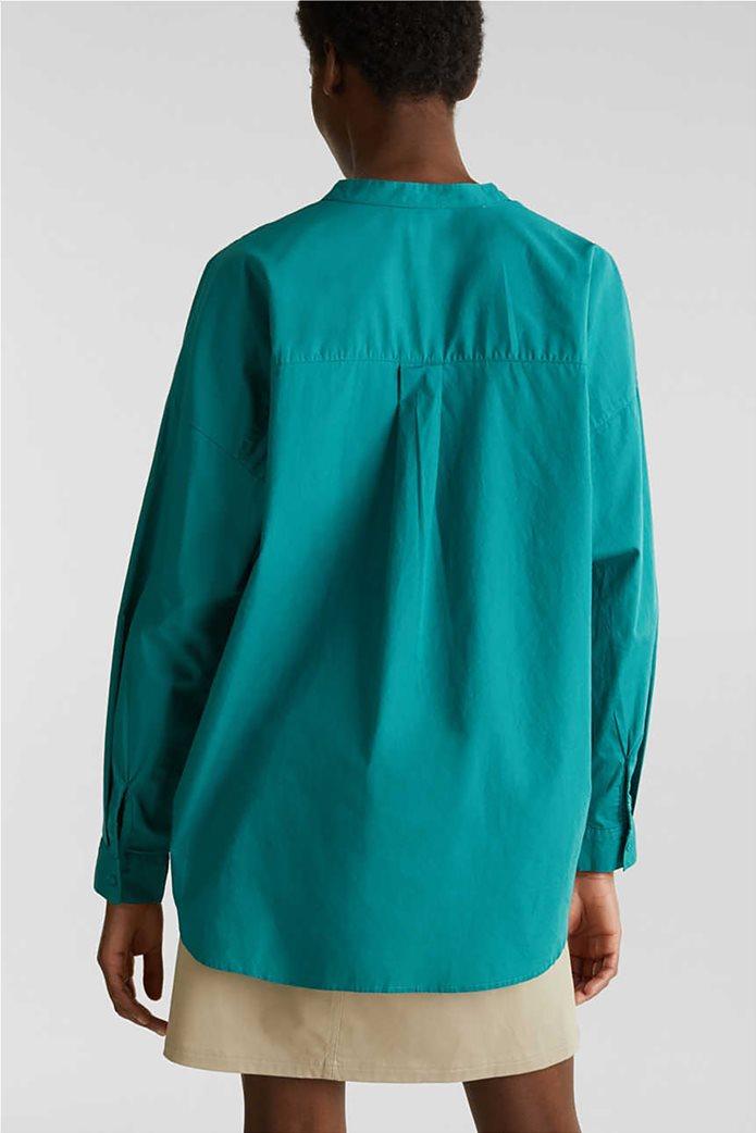 Esprit γυναικεία πουκαμίσα μακρυμάνικη με μάο γιακά 2