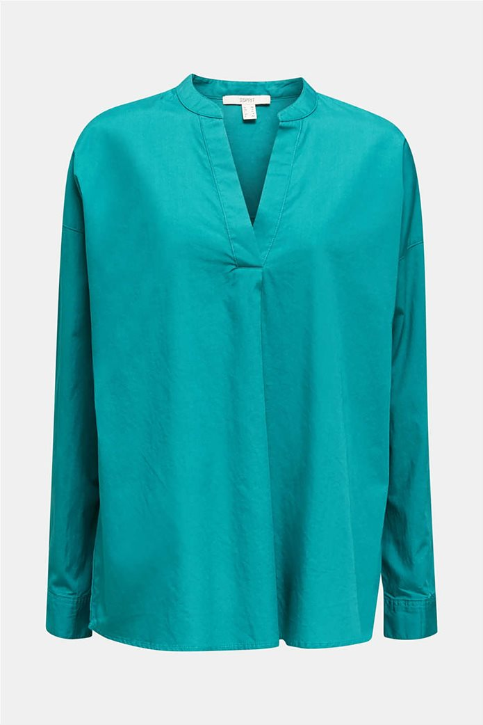 Esprit γυναικεία πουκαμίσα μακρυμάνικη με μάο γιακά 3