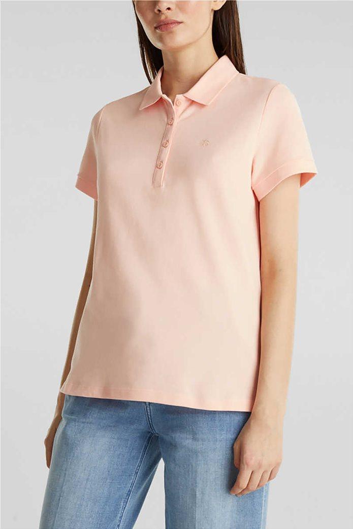Esprit γυναικεία polo πικέ μπλούζα 0