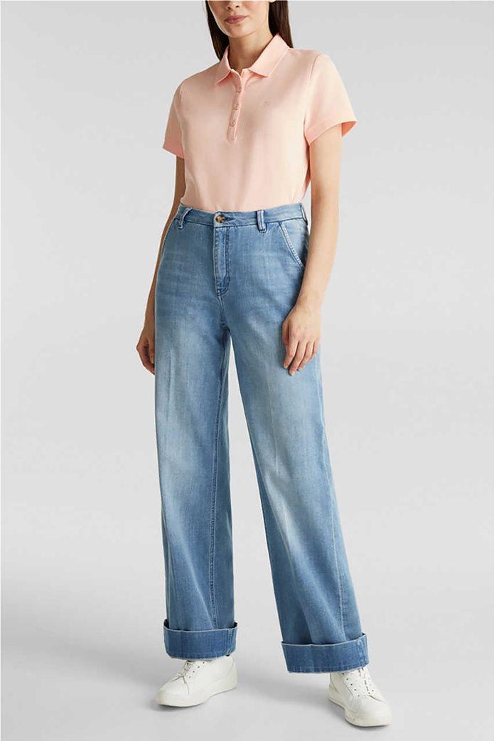 Esprit γυναικεία polo πικέ μπλούζα 1