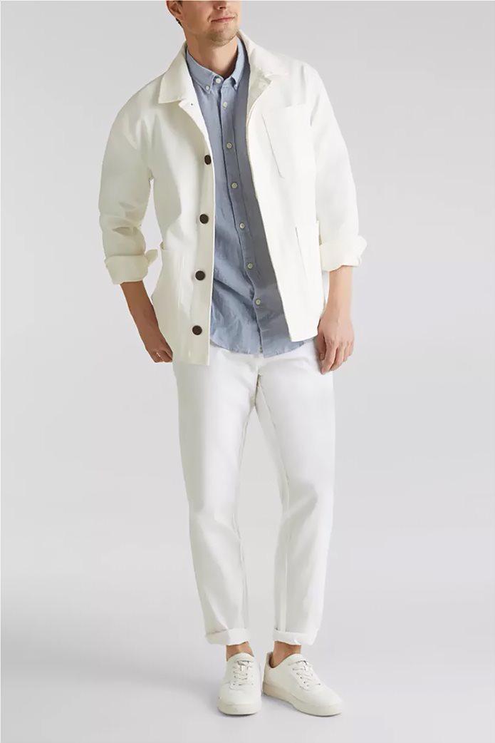 Esprit ανδρικό λινό παντελόνι με ζώνη (34L) 1