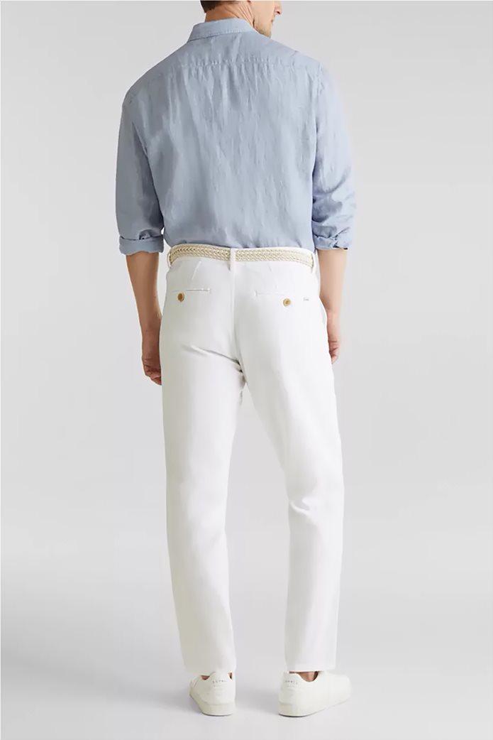 Esprit ανδρικό λινό παντελόνι με ζώνη (34L) 2