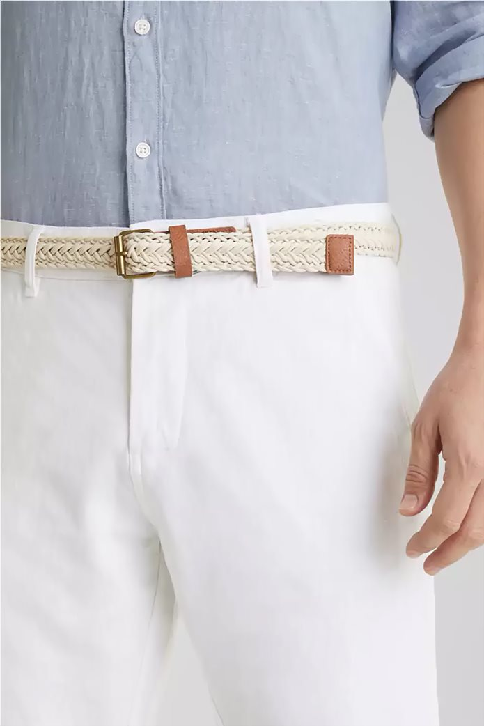 Esprit ανδρικό λινό παντελόνι με ζώνη (34L) 3
