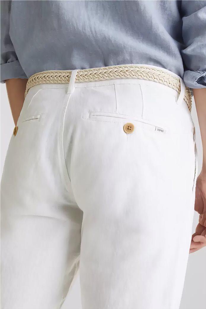 Esprit ανδρικό λινό παντελόνι με ζώνη (34L) 4