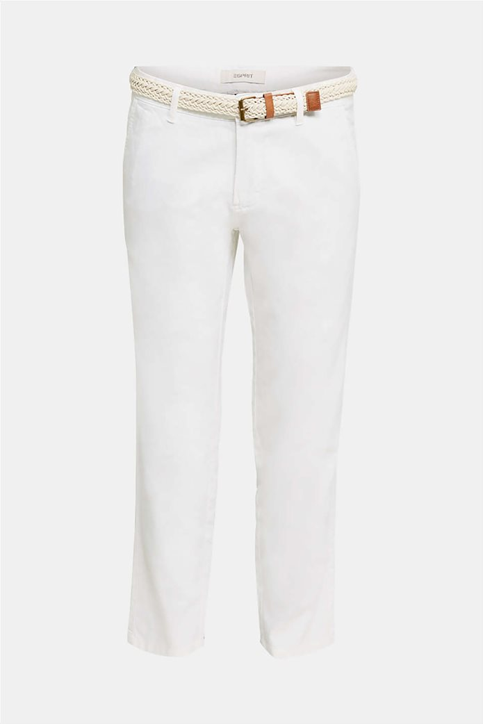 Esprit ανδρικό λινό παντελόνι με ζώνη (34L) 5
