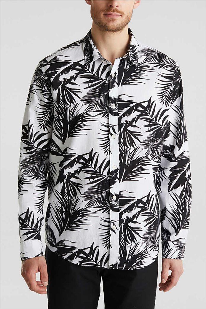 Esprit ανδρικό πουκάμισο μακρυμάνικο floral 0