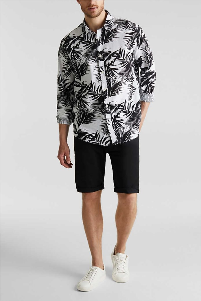 Esprit ανδρικό πουκάμισο μακρυμάνικο floral 1