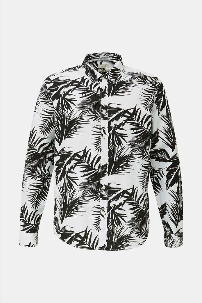 Esprit ανδρικό πουκάμισο μακρυμάνικο floral 3