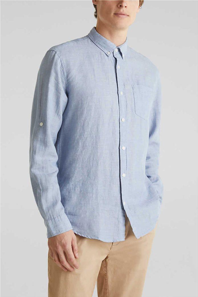 Esprit ανδρικό πουκάμισο μακρυμάνικο λινό 0