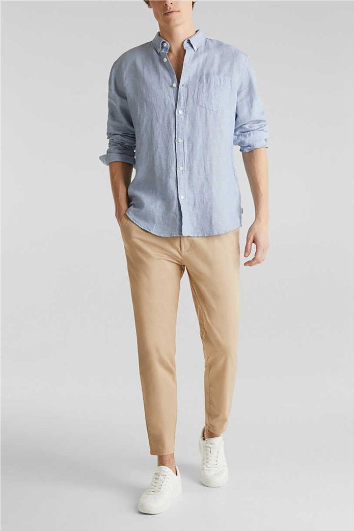 Esprit ανδρικό πουκάμισο μακρυμάνικο λινό 1