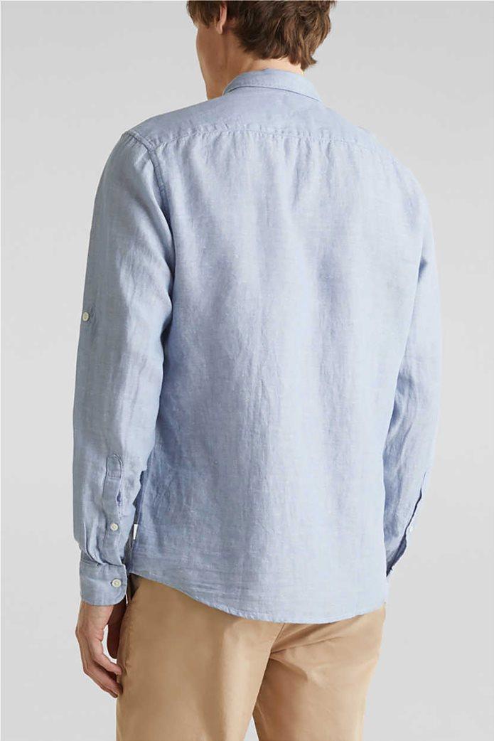Esprit ανδρικό πουκάμισο μακρυμάνικο λινό 2