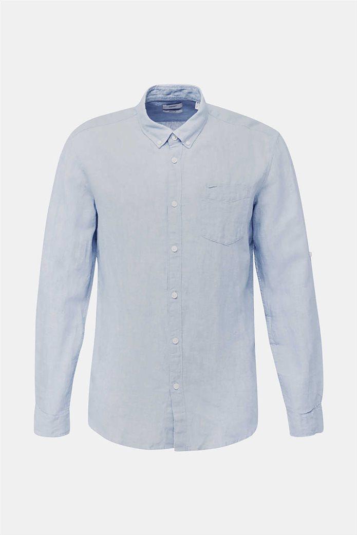 Esprit ανδρικό πουκάμισο μακρυμάνικο λινό 3