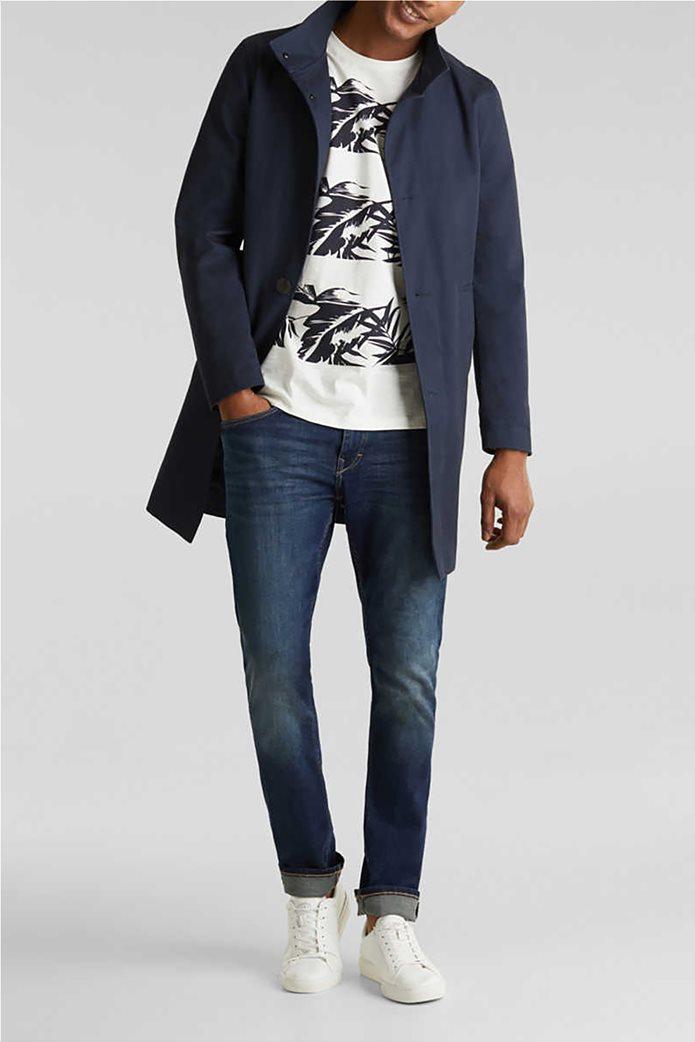 Esprit ανδρικό T-shirt με floral print και τσεπάκι σε αντίθεση 1