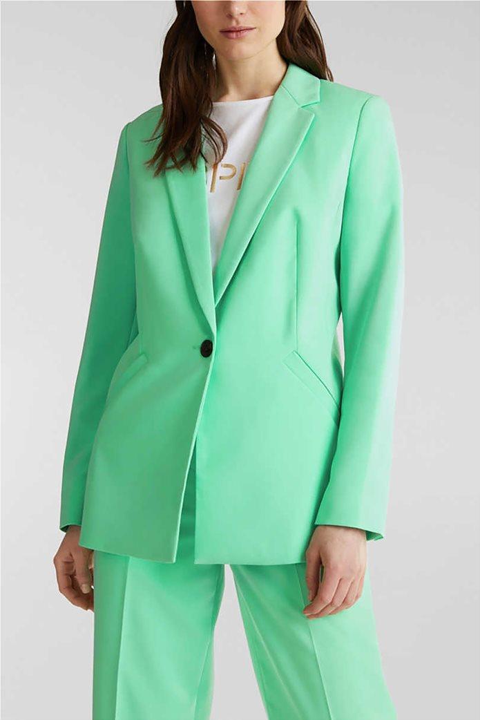 Esprit γυναικείο σακάκι μονόχρωμο με κουμπί 0