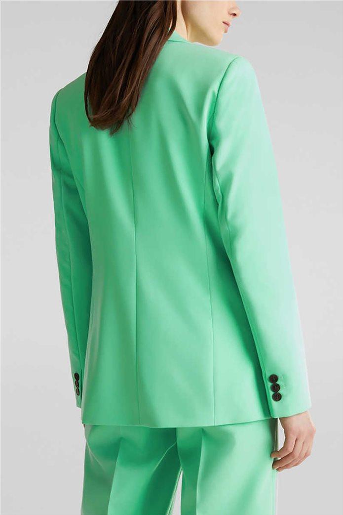 Esprit γυναικείο σακάκι μονόχρωμο με κουμπί 2
