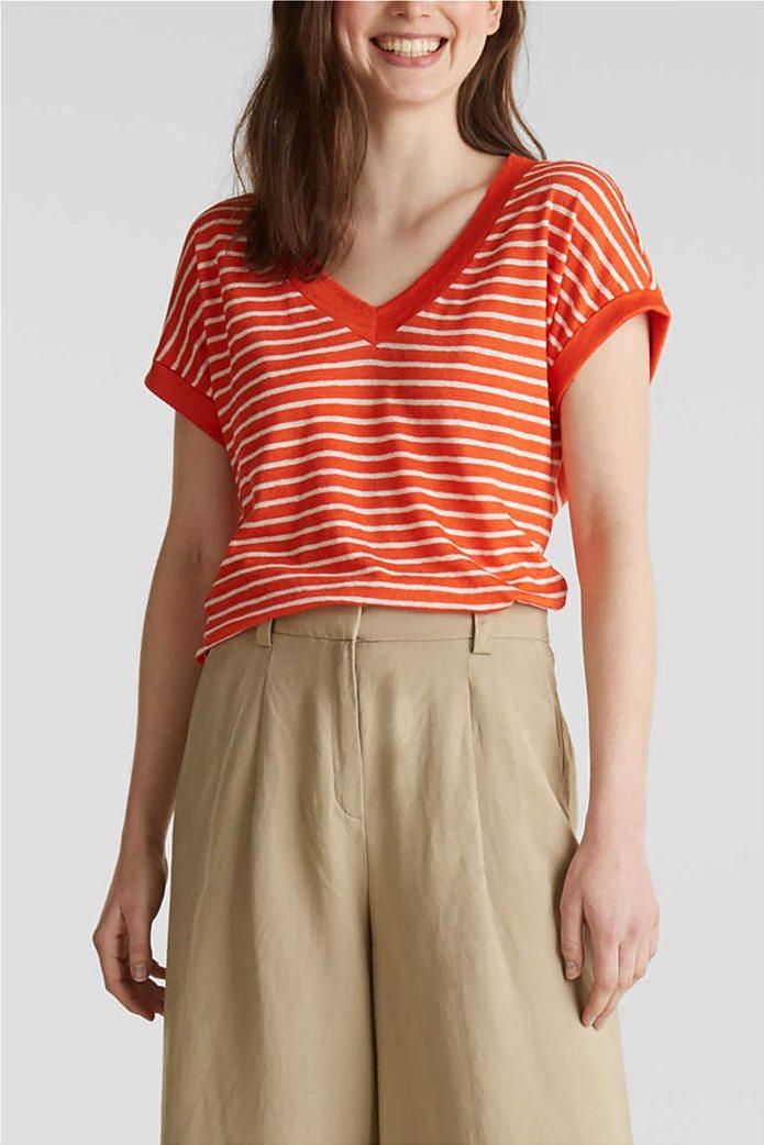 Esprit γυναικείο T-shirt με V λαιμόκοψη 0