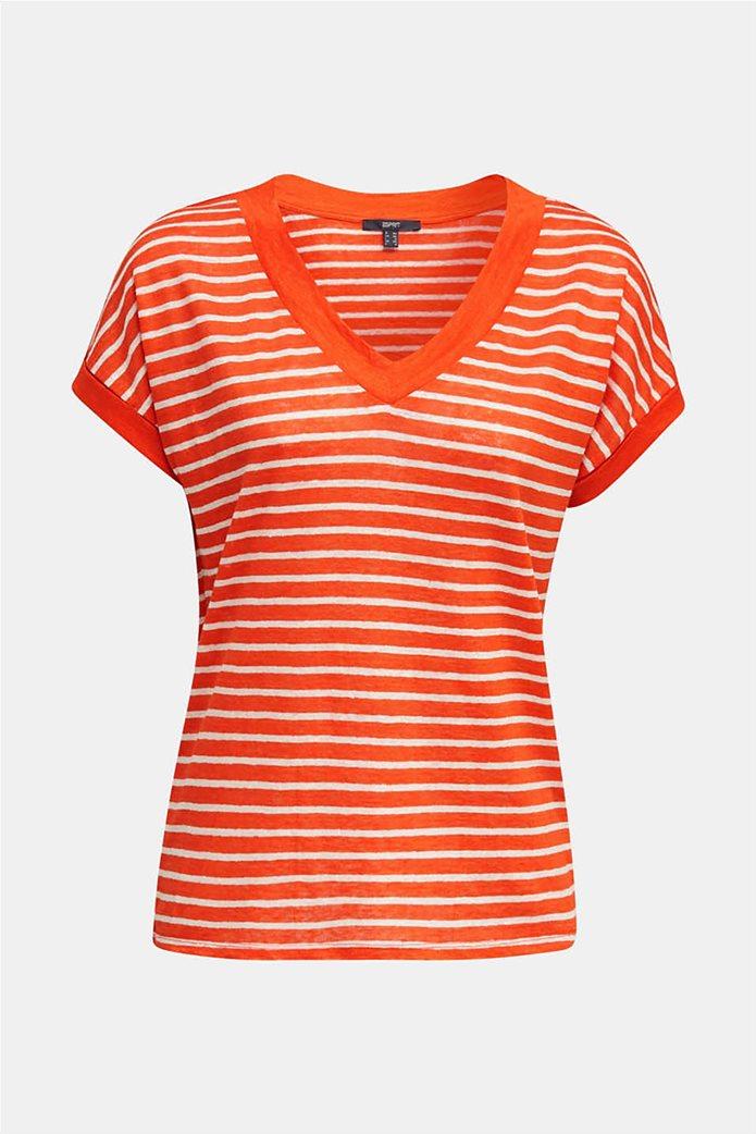 Esprit γυναικείο T-shirt με V λαιμόκοψη 3