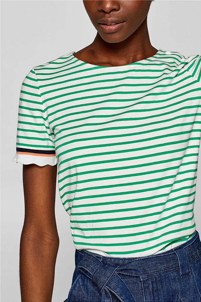 Esprit γυναικεία πλεκτή  μπλούζα με ρίγες 0