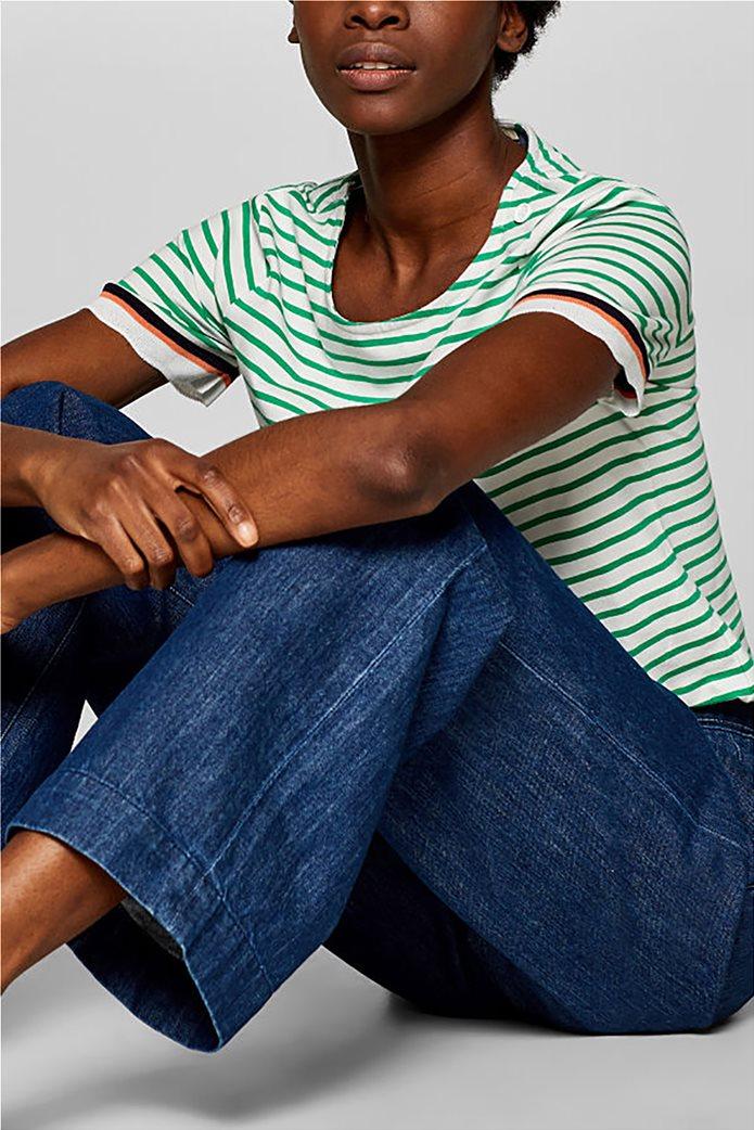 Esprit γυναικεία πλεκτή  μπλούζα με ρίγες 1