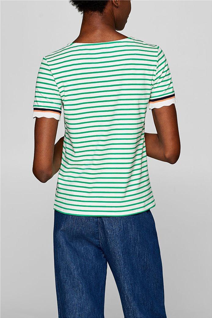 Esprit γυναικεία πλεκτή  μπλούζα με ρίγες 3