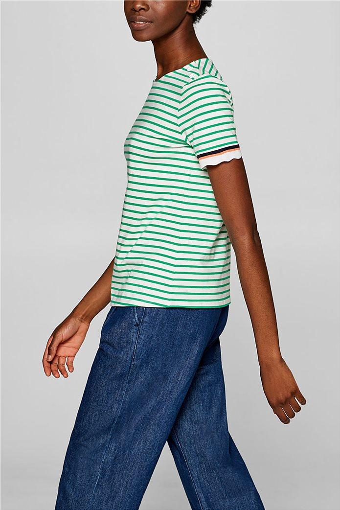 Esprit γυναικεία πλεκτή  μπλούζα με ρίγες 4