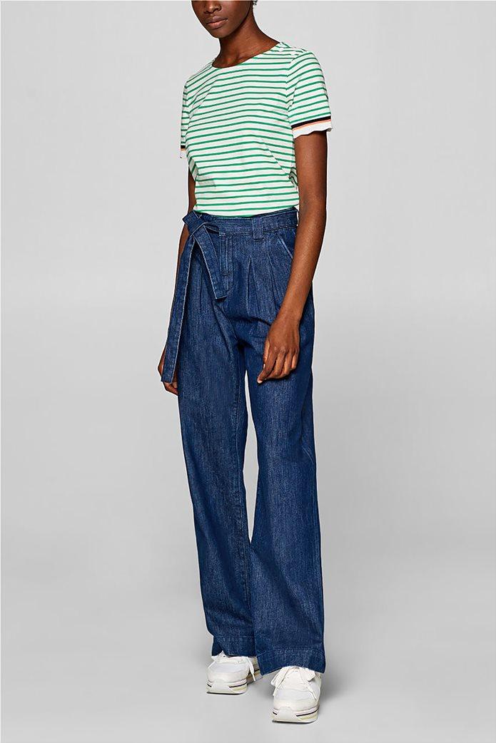 Esprit γυναικεία πλεκτή  μπλούζα με ρίγες 5