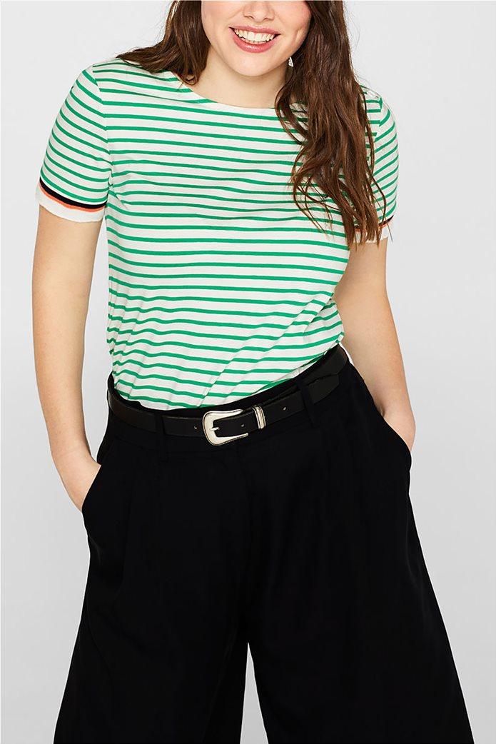 Esprit γυναικεία πλεκτή  μπλούζα με ρίγες 6