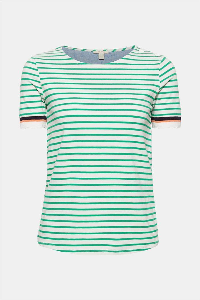 Esprit γυναικεία πλεκτή  μπλούζα με ρίγες 7