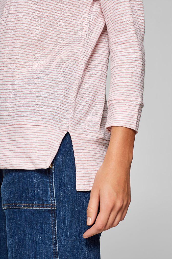 Esprit γυναικεία λινή μπλούζα με ρίγες 2