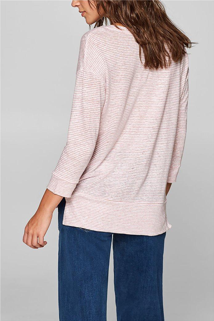 Esprit γυναικεία λινή μπλούζα με ρίγες 3
