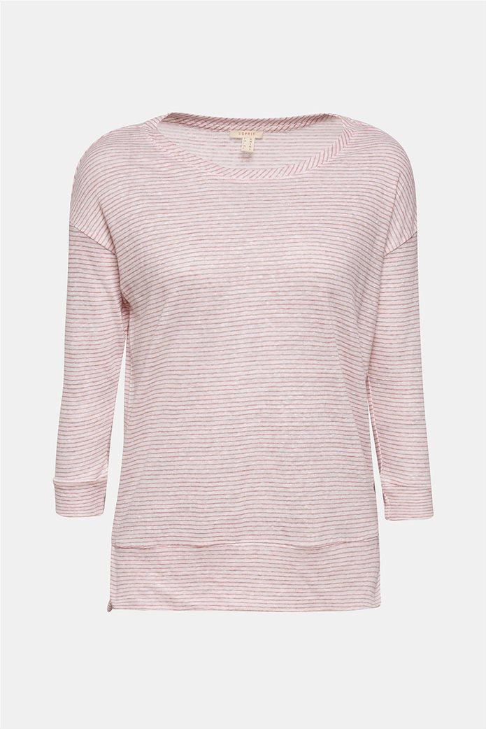 Esprit γυναικεία λινή μπλούζα με ρίγες 7