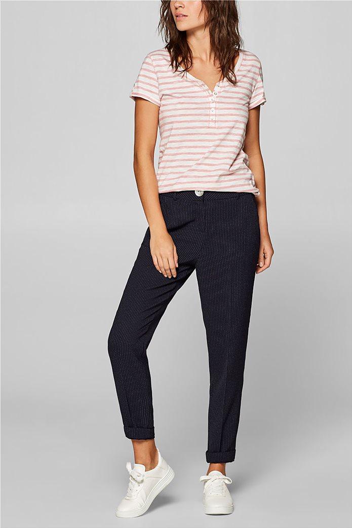 Esprit γυναικεία ριγέ μπλούζα με κουμπιά 1