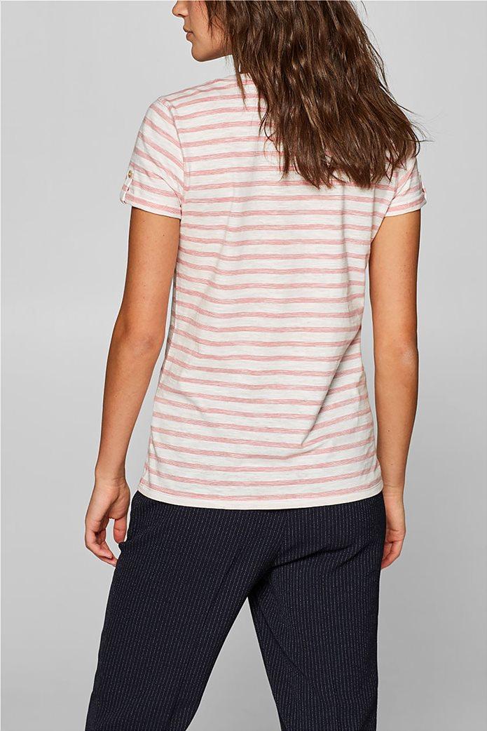 Esprit γυναικεία ριγέ μπλούζα με κουμπιά 3