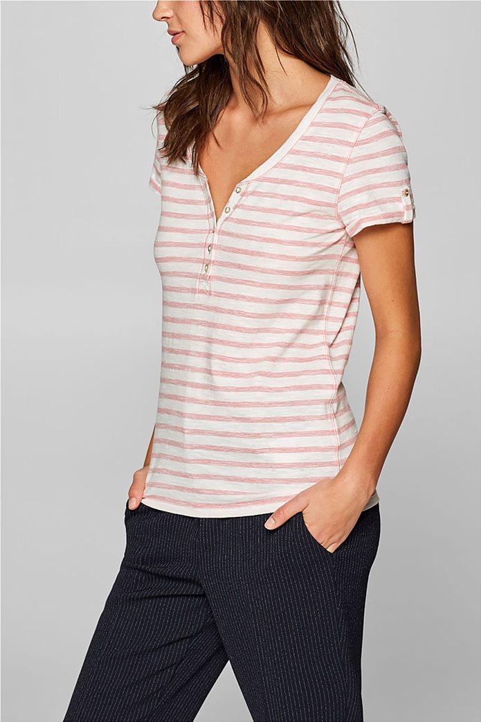 Esprit γυναικεία ριγέ μπλούζα με κουμπιά 5