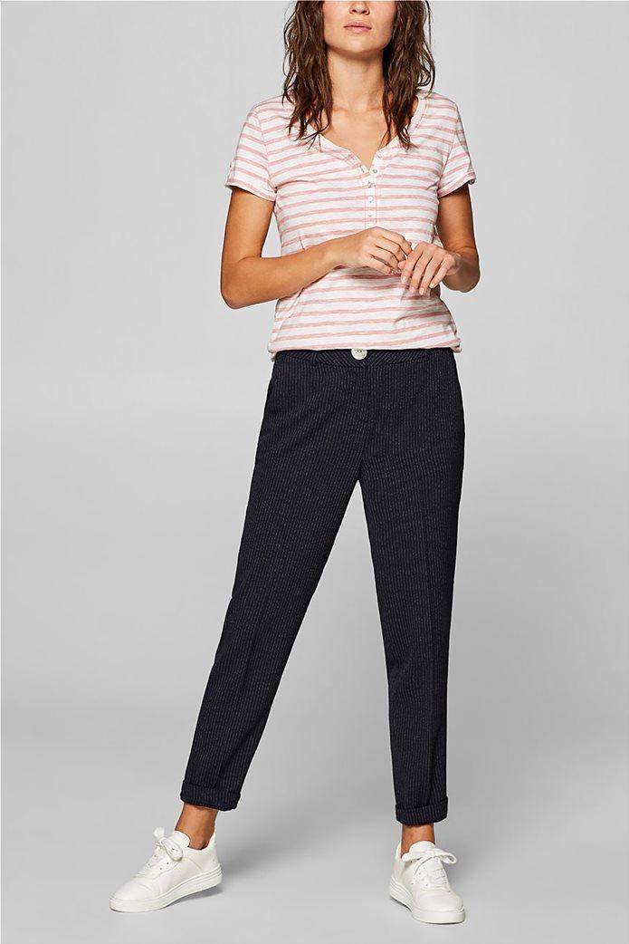 Esprit γυναικεία ριγέ μπλούζα με κουμπιά 6
