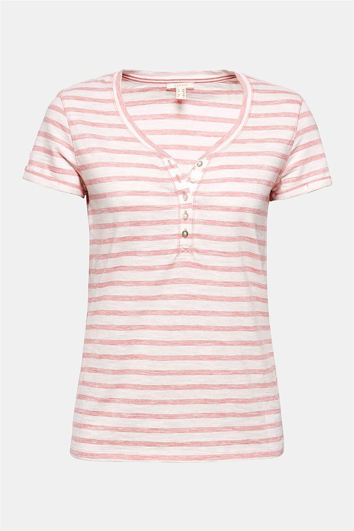 Esprit γυναικεία ριγέ μπλούζα με κουμπιά 7