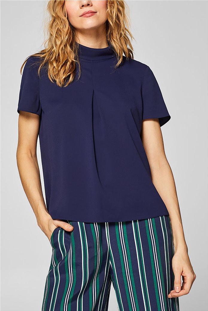 Esprit γυναικεία μπλούζα με γυριστό γιακά 0