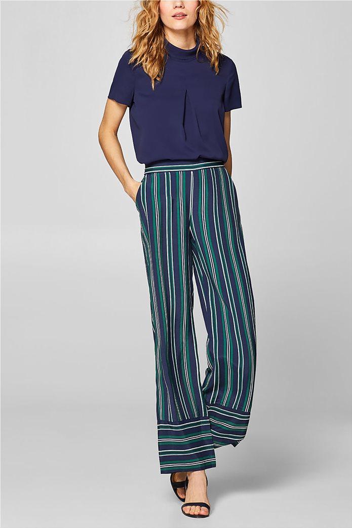 Esprit γυναικεία μπλούζα με γυριστό γιακά 1
