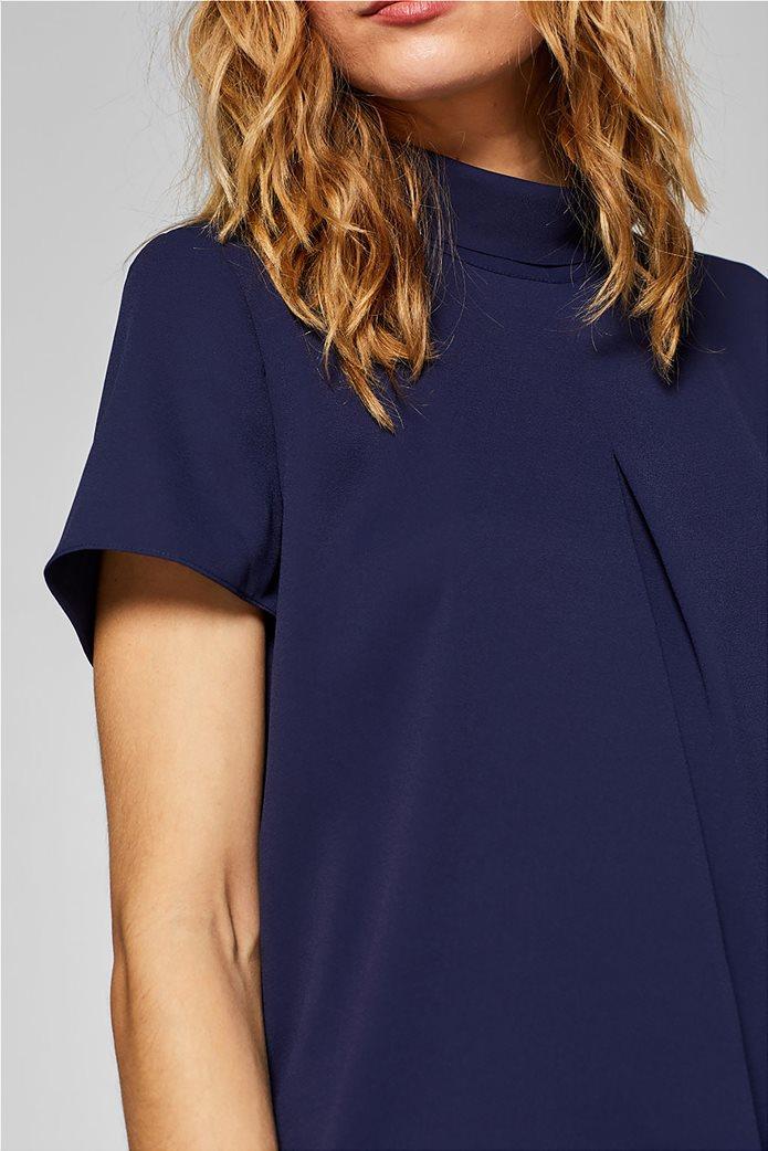 Esprit γυναικεία μπλούζα με γυριστό γιακά 2