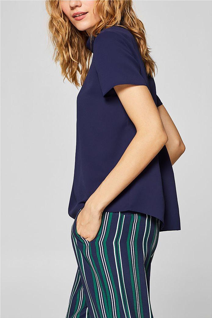Esprit γυναικεία μπλούζα με γυριστό γιακά 5