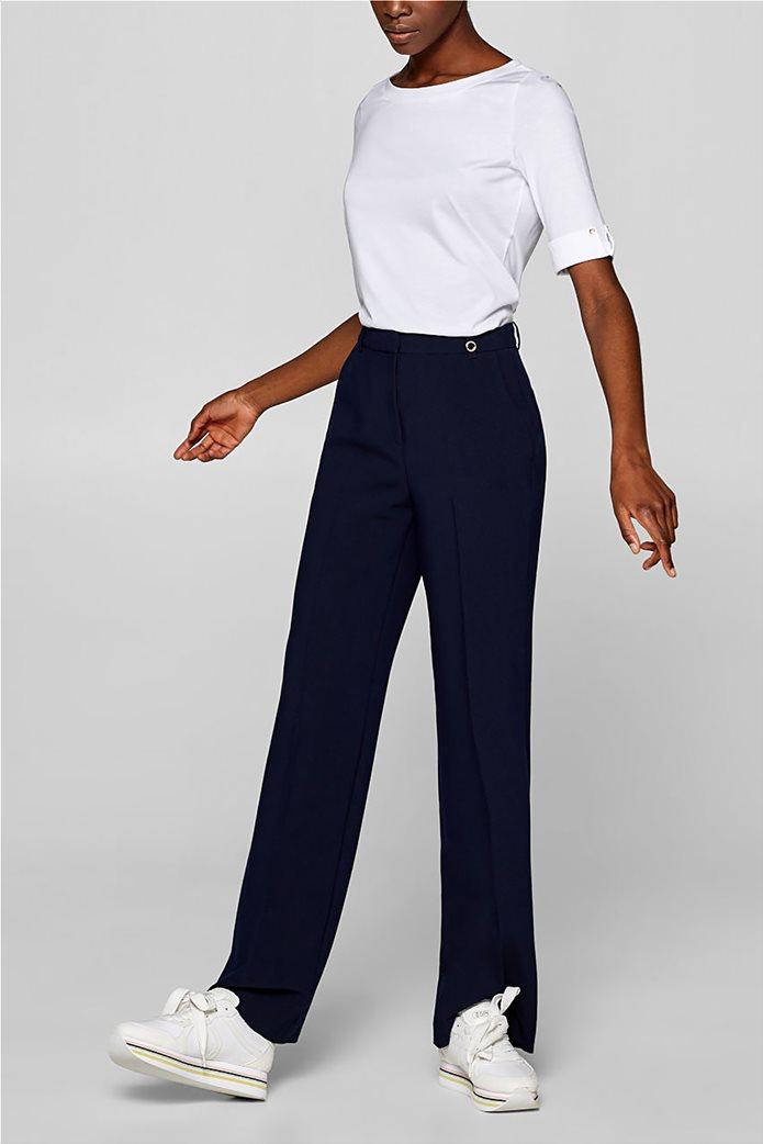 Esprit γυναικεία μπλούζα με κουμπιά στα μανίκια 1