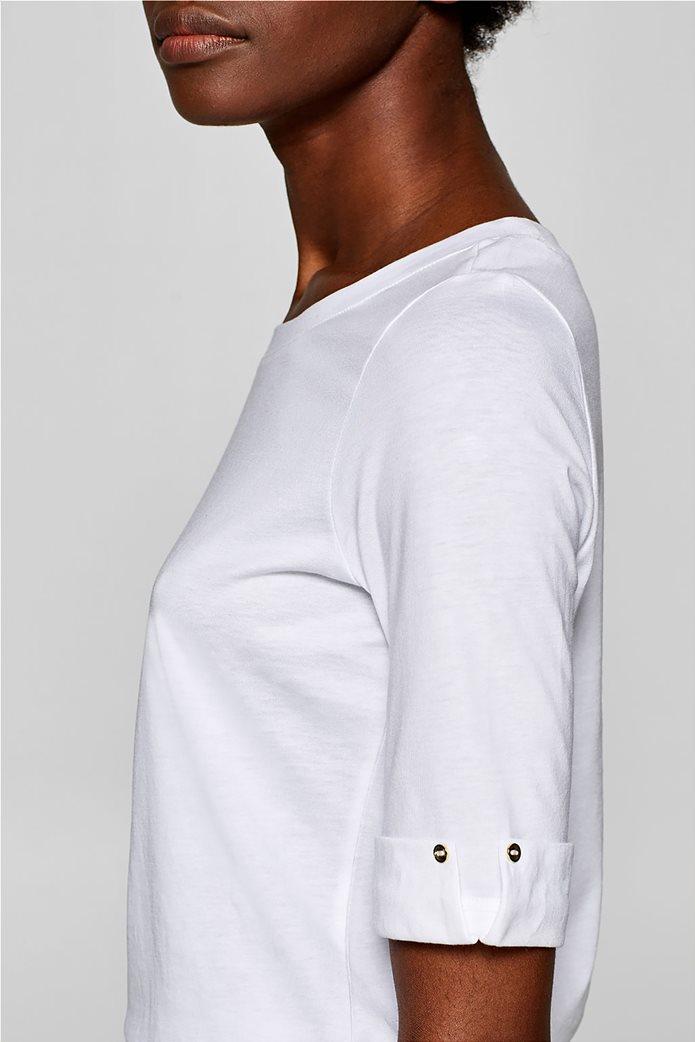 Esprit γυναικεία μπλούζα με κουμπιά στα μανίκια 2